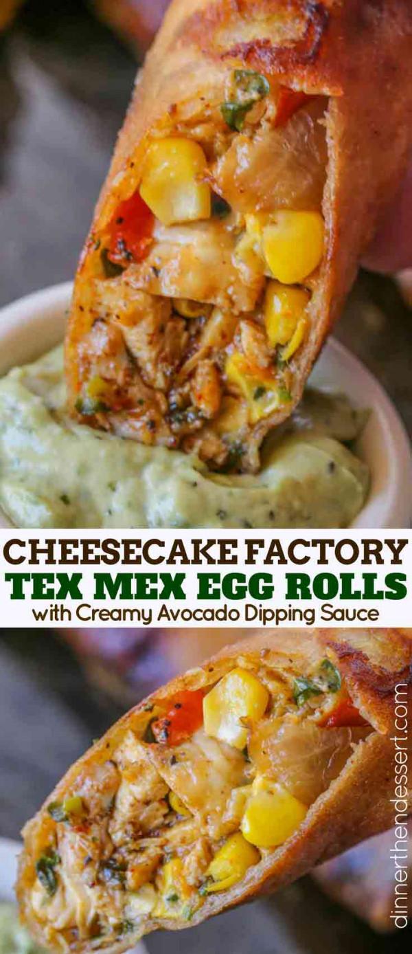 TEX MEX egg rolls collage