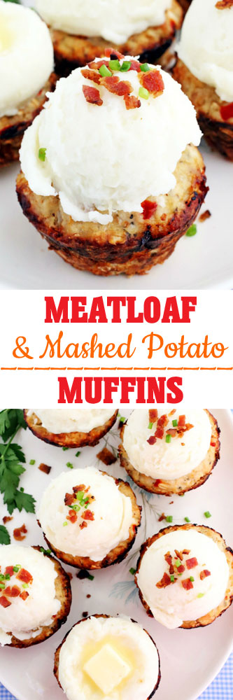 Meatloaf Muffins with Mashed Potato Frosting