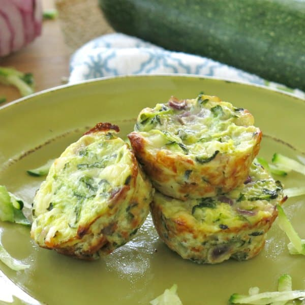 Zucchini and Egg Muffins on plate