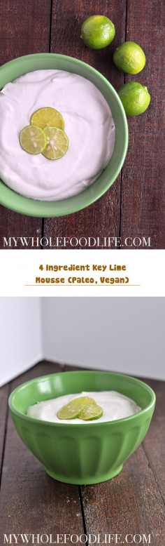 4 Ingredient Key Lime Mousse (Paleo, Vegan)