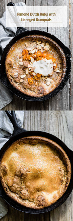 Almond Dutch Baby with Honeyed Kumquats