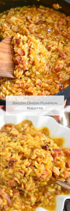 Bacon Onion Pumpkin Risotto