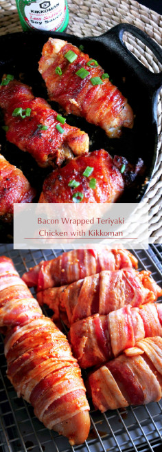 Bacon Wrapped Teriyaki Chicken with Kikkoman
