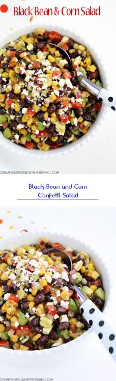 Black Bean and Corn Confetti Salad