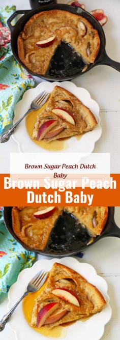 Brown Sugar Peach Dutch Baby