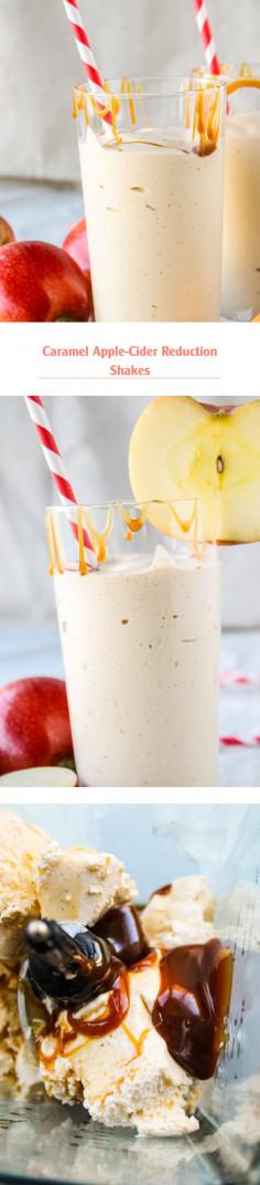 Caramel Apple-Cider Reduction Shakes