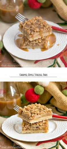 Caramel Apple Streusel Bars