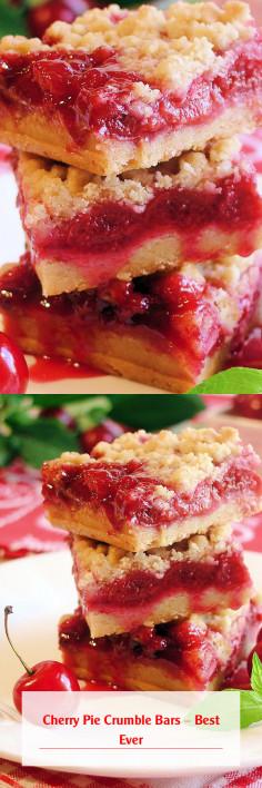 Cherry Pie Crumble Bars – Best Ever