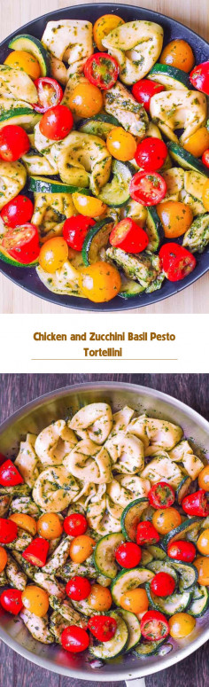 Chicken and Zucchini Basil Pesto Tortellini