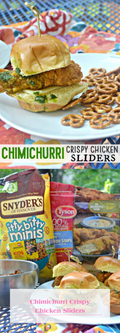 Chimichurri Crispy Chicken Sliders