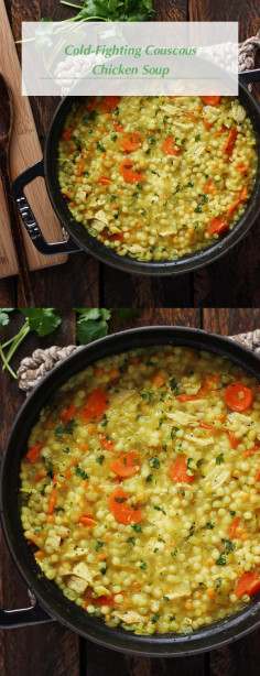 Cold-Fighting Couscous Chicken Soup
