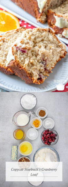 Copycat Starbuck's Cranberry Loaf