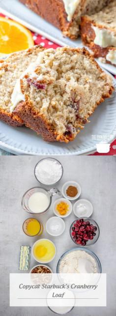 Copycat Starbuck's Cranberry Loaf