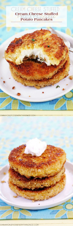 Cream Cheese Stuffed Potato Pancakes