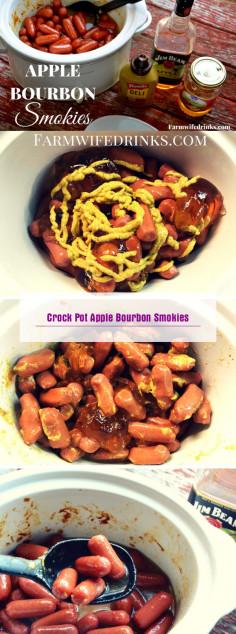 Crock Pot Apple Bourbon Smokies