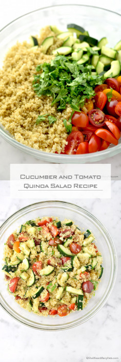 Cucumber and Tomato Quinoa Salad Recipe