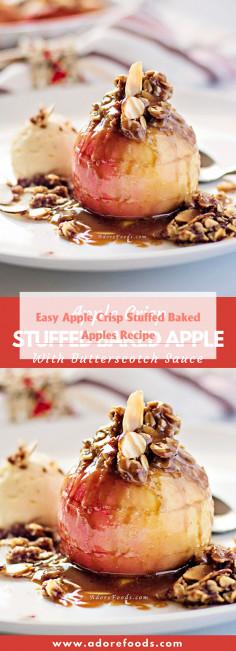 Easy Apple Crisp Stuffed Baked Apples Recipe