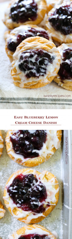 Easy Blueberry Lemon Cream Cheese Danish