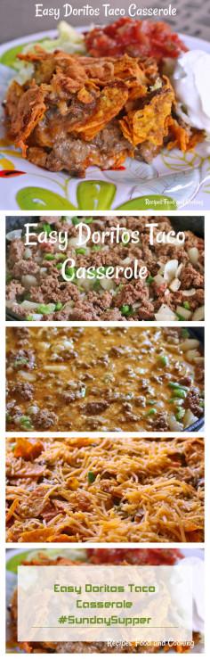 Easy Doritos Taco Casserole #SundaySupper