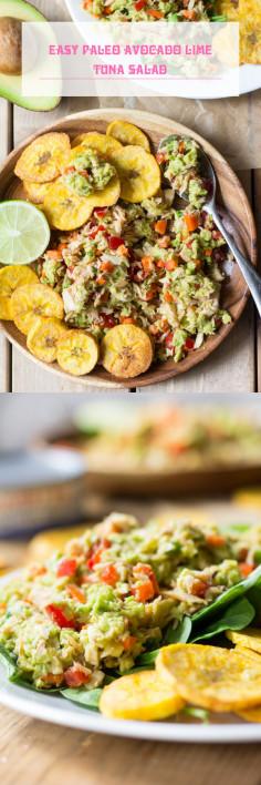 Easy Paleo Avocado Lime Tuna Salad