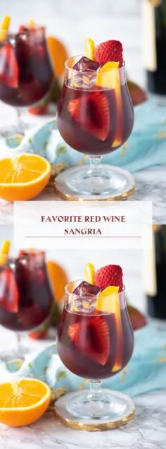 Favorite Red Wine Sangria