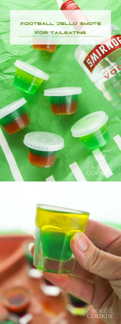 Football Jello Shots for Tailgating