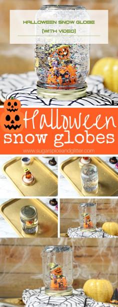 Halloween Snow Globe (with Video)