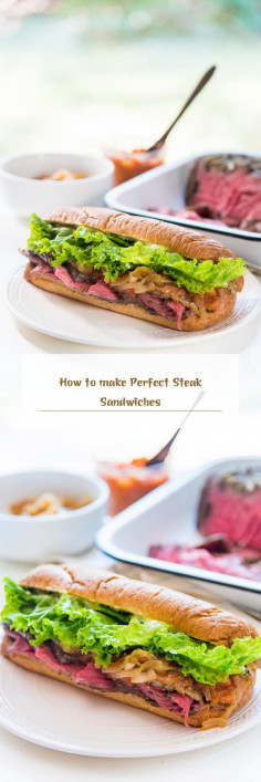 How to make Perfect Steak Sandwiches