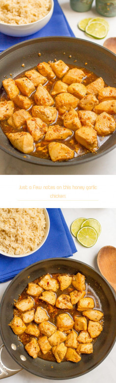 Just a few notes on this honey garlic chicken: