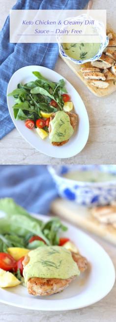 Keto Chicken & Creamy Dill Sauce – Dairy Free