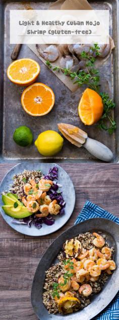 Light & Healthy Cuban Mojo Shrimp (gluten-free)