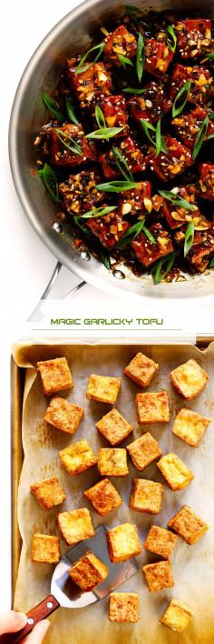 Magic Garlicky Tofu