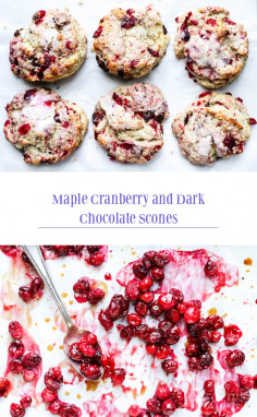 Maple Cranberry and Dark Chocolate Scones