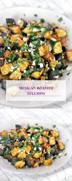 Mexican Roasted Zucchini