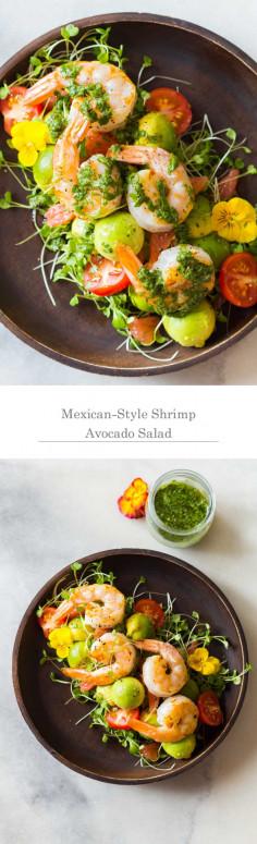 Mexican-Style Shrimp Avocado Salad