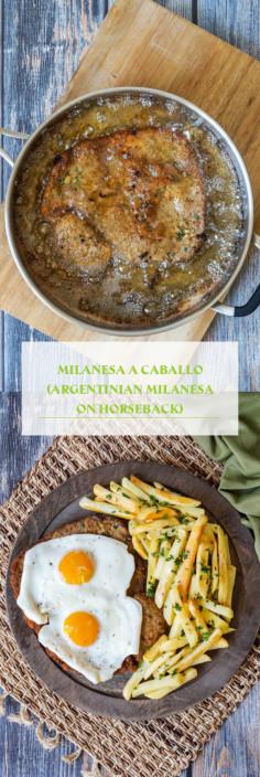 Milanesa a Caballo (Argentinian Milanesa on Horseback)