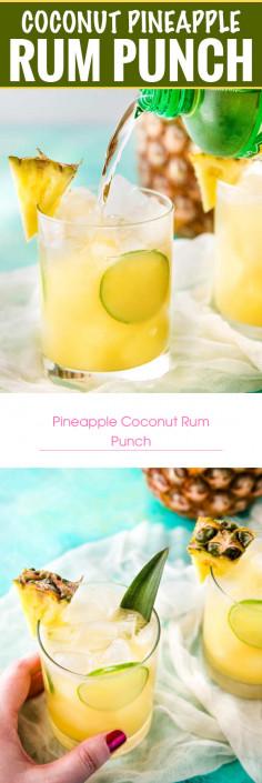 Pineapple Coconut Rum Punch