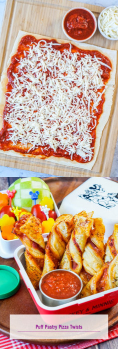 Puff Pastry Pizza Twists
