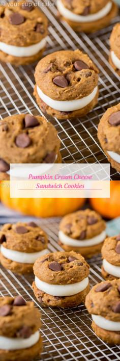 Pumpkin Cream Cheese Sandwich Cookies