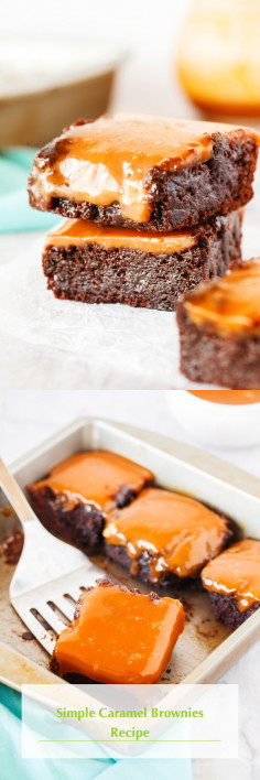 Simple Caramel Brownies Recipe
