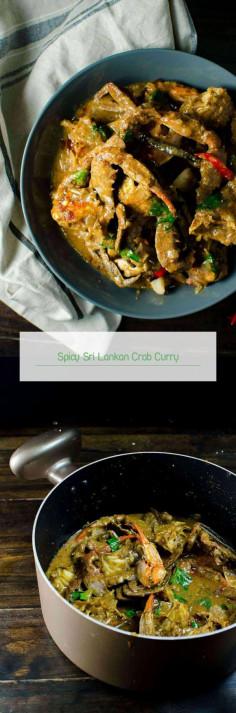 Spicy Sri Lankan Crab Curry