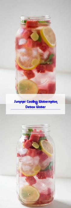 Summer Cooling Watermelon Detox Water