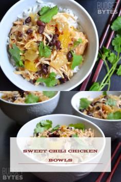 Sweet Chili Chicken Bowls
