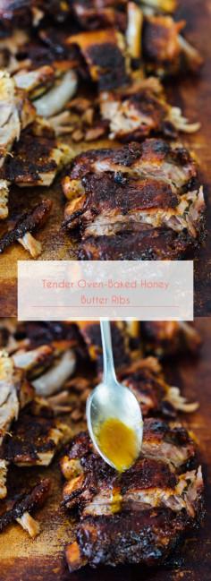 Tender Oven-Baked Honey Butter Ribs