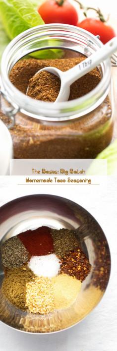 The Basics: Big Batch Homemade Taco Seasoning