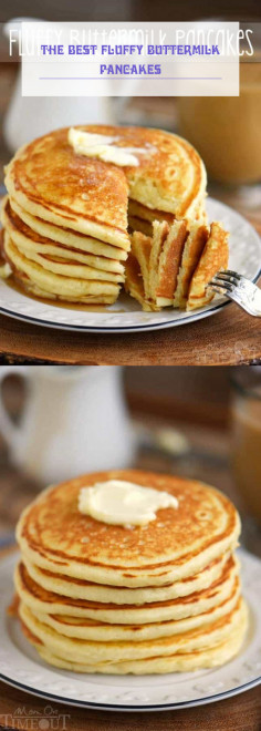 The BEST Fluffy Buttermilk Pancakes