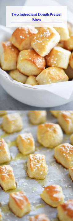 Two Ingredient Dough Pretzel Bites
