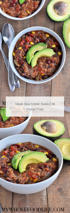 Vegan Slow Cooker Quinoa Chili (Gluten Free)