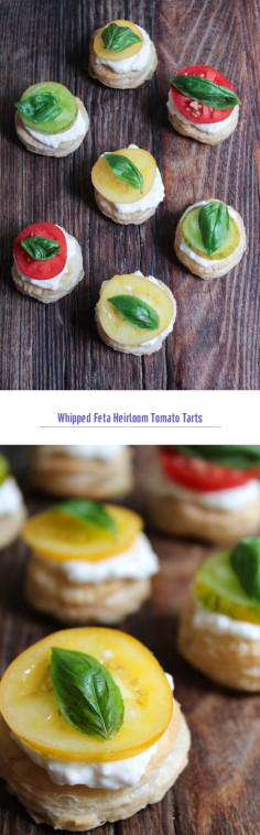 Whipped Feta Heirloom Tomato Tarts