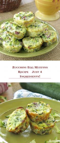Zucchini Egg Muffins Recipe – Just 4 Ingredients!
